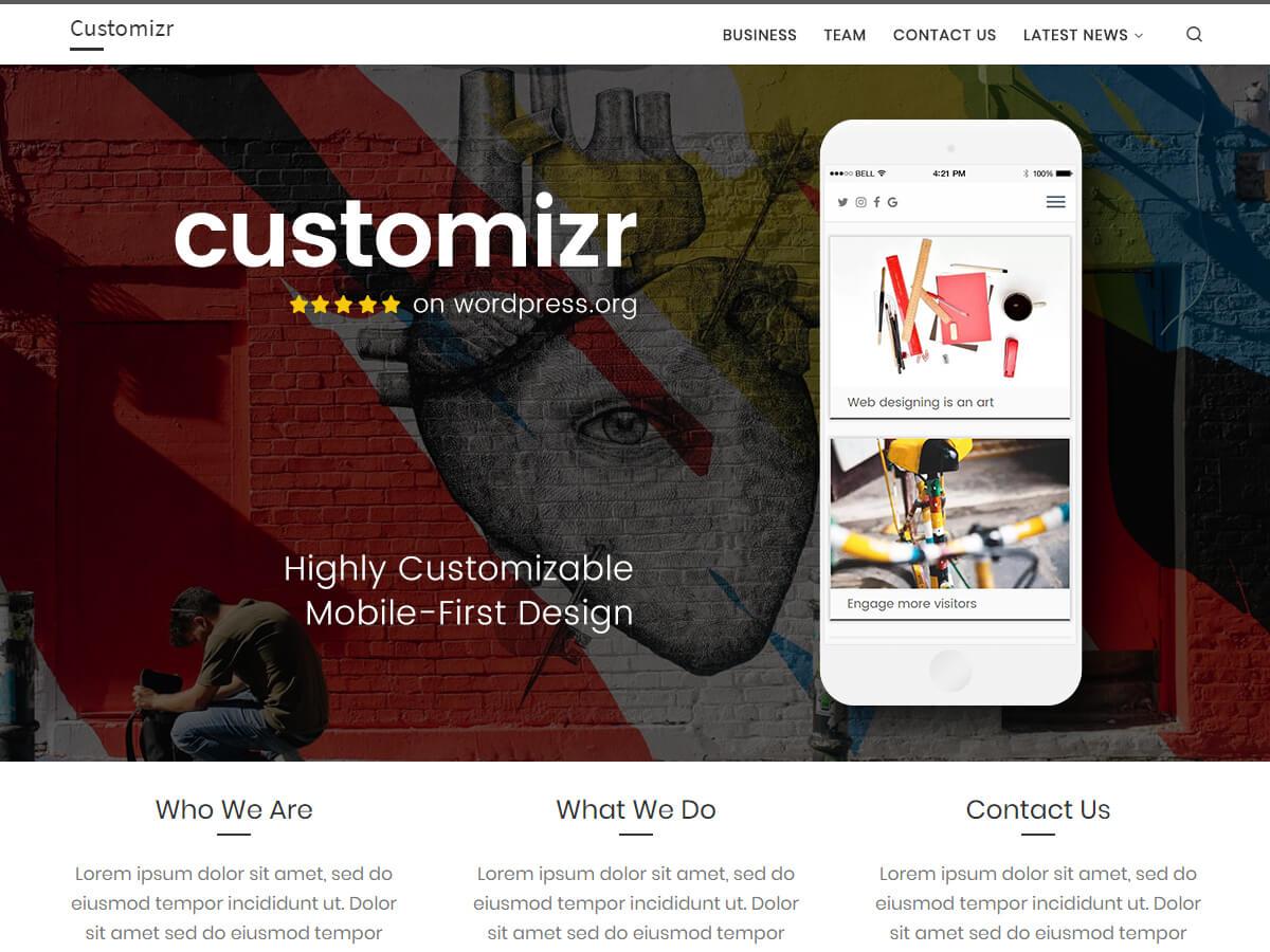 Customizr ist ein vollständig responsives Theme